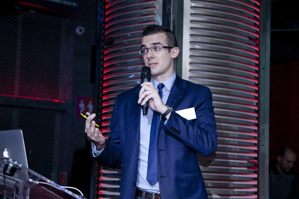 Dr. Varga Ákos a The Journey - Shopping 2.0 című konferencián (forrás: Kreatív Online)